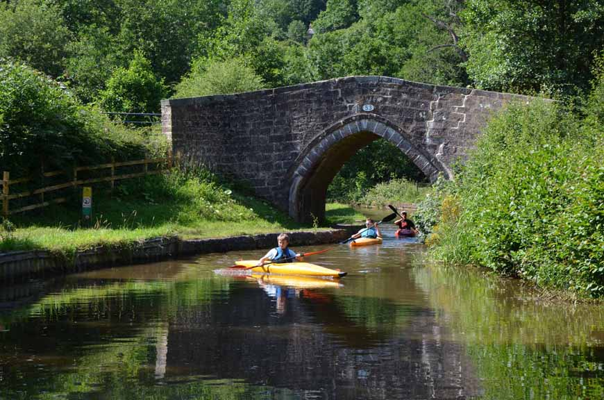 Canoes at Cherry Eye Bridge