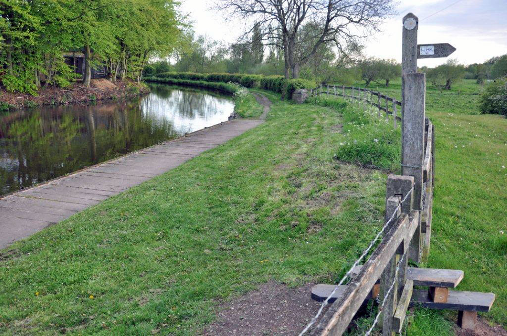 Site of junction bridge on Staffs & Worcs Canal at Baswich, Stafford Riverway Link