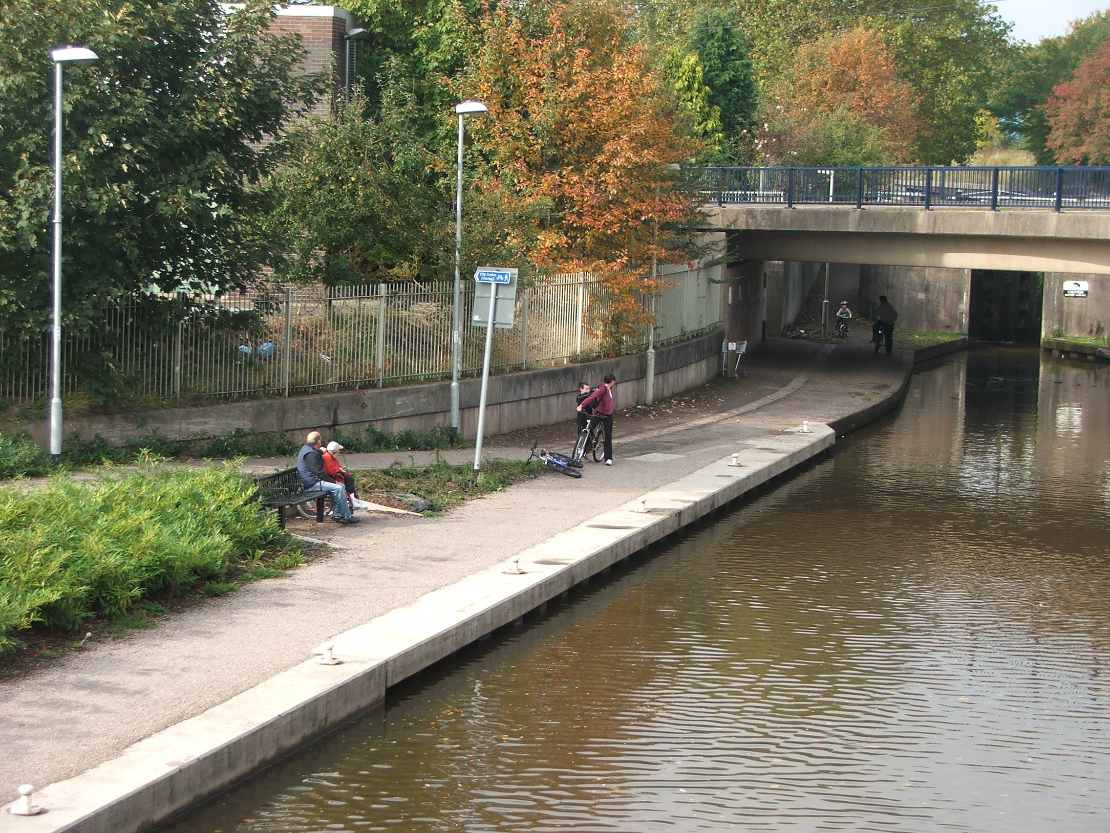 Improved towpath in Stone